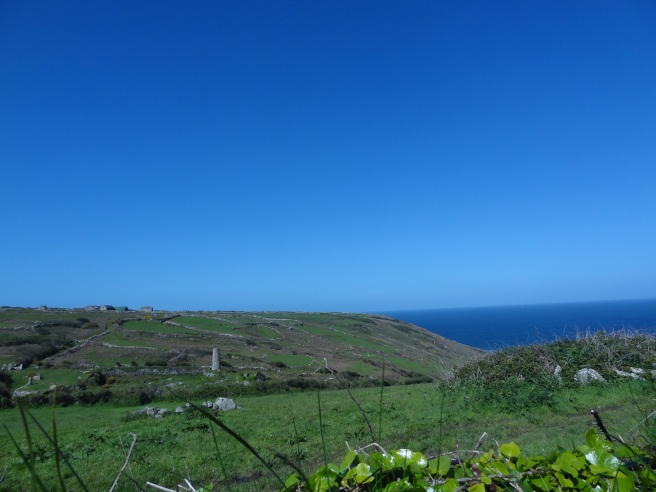 The view from The Farmhouse, our holiday home in Lower Porthmeor, West Penwith.